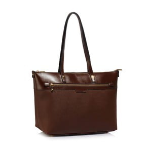 Tmavohnedá kabelka L & S Bags Huliya