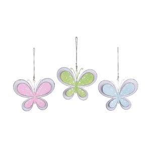 Sada 3 závesných dekorácií v tvare motýlikov Ego Dekor Spring
