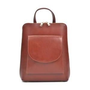 Červenohnedý kožený batoh Anna Luchini Molly
