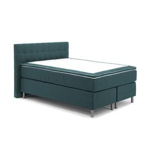 Tyrkysová boxspring posteľ Vivonita Koso, 140 x 200cm