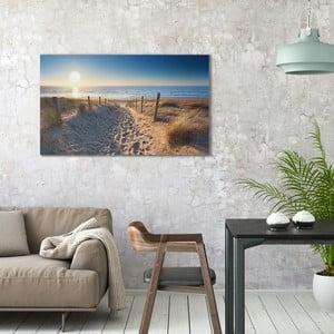 Obraz na plátne OrangeWallz Beach Road, 70 x 118 cm