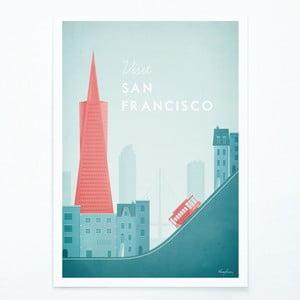 Plagát Travelposter San Francisco, A3