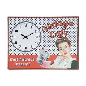 Nástenné hodiny Vintage Café, 32x24 cm