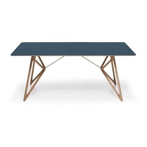 Dubový jedálenský stôl Tink Linoleum Gazzda, 200cm, modrý