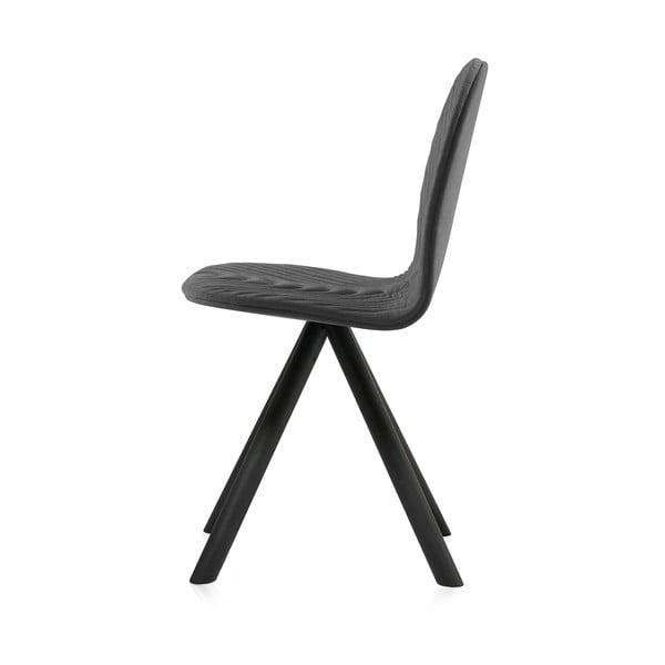 Tmavosivá stolička s čiernymi nohami IKER Mannequin Wave