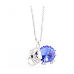 Náhrdelník so Swarovski Elements, modrofialové sloníča