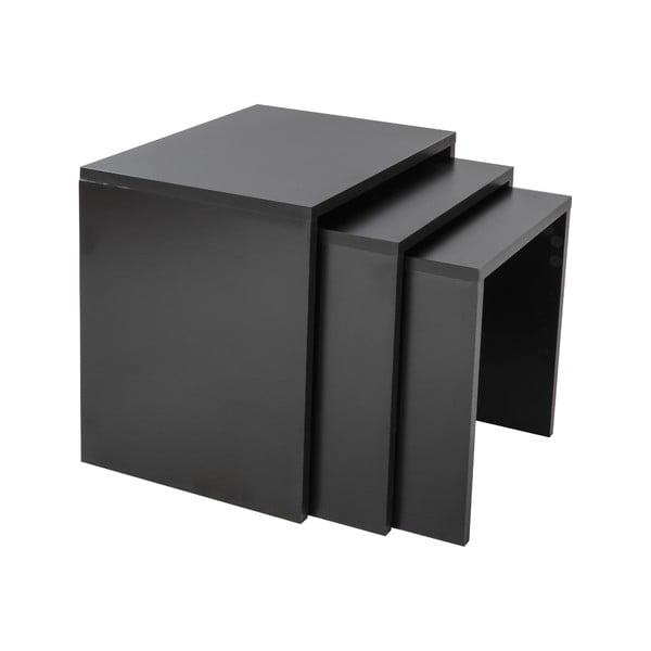 Sada 3 stolíkov Kina Black