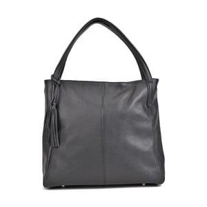 Čierna kožená kabelka Roberta M Hungar