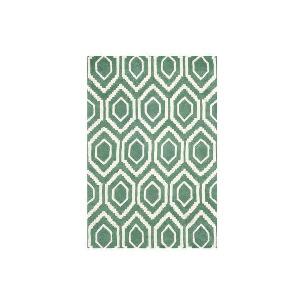 Vlnený koberec Essex 121x182 cm, zelený