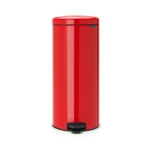 Červený pedálový odpadkový kôš Brabantia, 30l