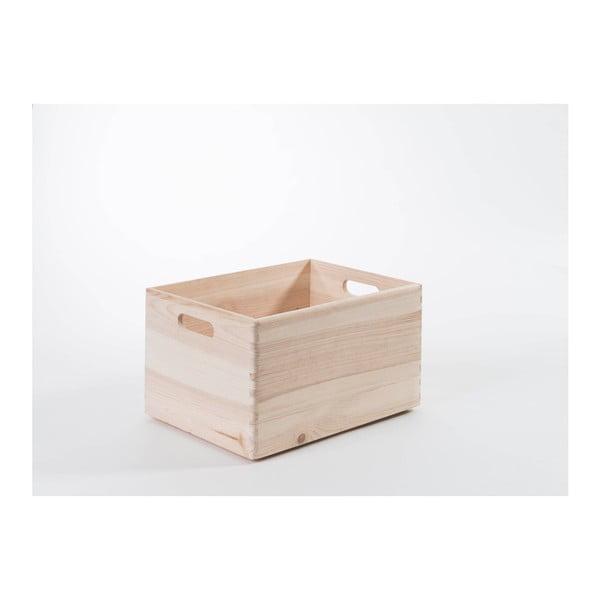 Úložný box z borovicového dreva Compactor Custom, 40×30×23 cm