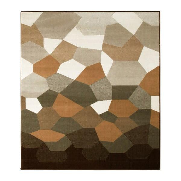 Hnedý koberec Prime Pile Abstract, 190x280 cm