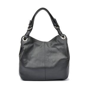 Čierna kožená kabelka Carla Ferreri Irene