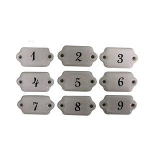 Sada 9 keramických štítkov Antic Line