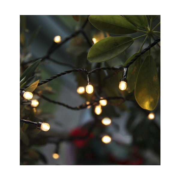 Vonkajšia svetelná LED reťaz s bielymi diódami Best Season Cherry, 80 svetielok