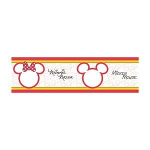 Samolepiaca bordúra AG Design Mickey & Minnie, dĺžka 5 m