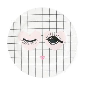 Keramický tanier Miss Étoile Heart And Eye, ⌀ 25 cm