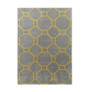 Koberec Tile 120x170 cm, sivožltý