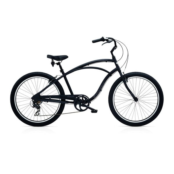 Pánsky bicykel Cruiser Lux 7D Black Matte