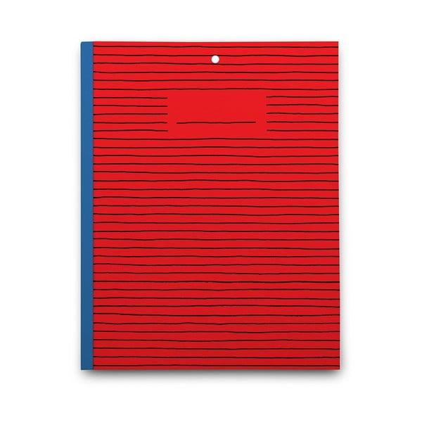 Zápisník Red Paper, červený