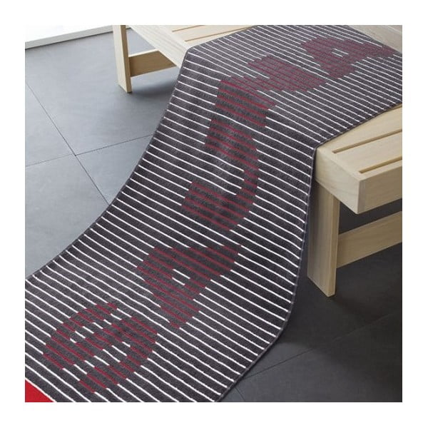 Osuška Sauna Black, 180x70 cm