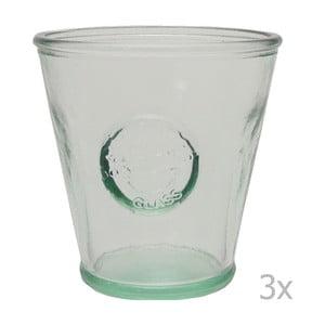 Sada 3 pohárov z recyklovaného skla EgoDekorAuthentic, 250 ml