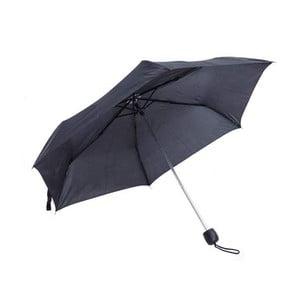 Čierny skladací dáždnik Light & Compact Basic