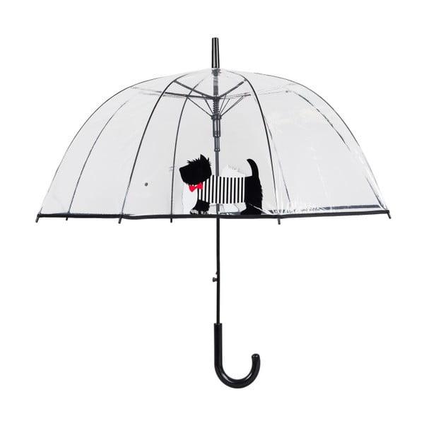 Transparentný dáždnik s rukoväťou Ambiance Cute Dog, ⌀85 cm