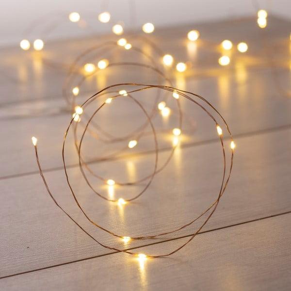 Svetelná LED reťaz v medenej farbe DecoKing Chain, dĺžka 10,3 m