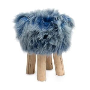 Stolička s modrou kožušinou Sheepo