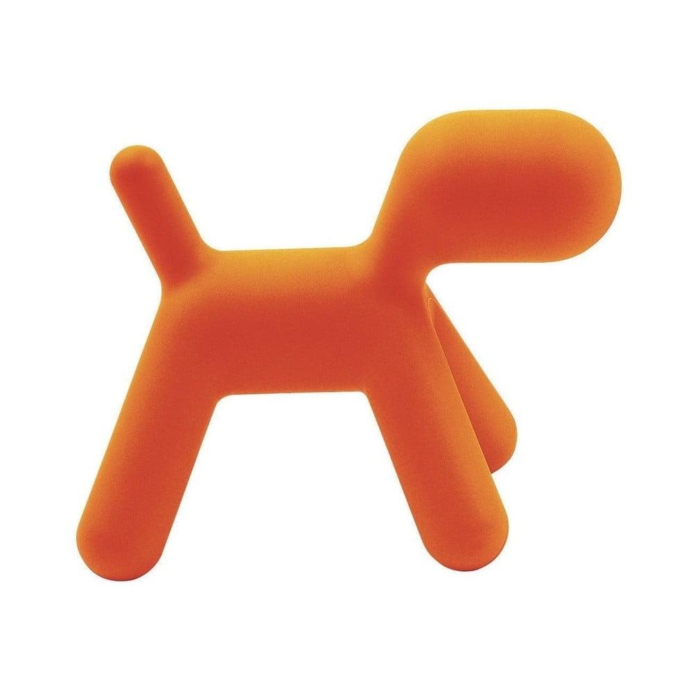 Oranžová detská stolička v tvare psa Magis Puppy, výška 55,5 cm