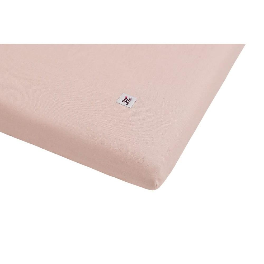 Ružová detská ľanová plachta BELLAMY Dusty Pink, 60 × 120 cm