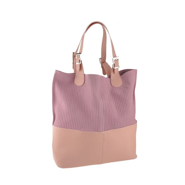 Kožená kabelka Hamal, ružová