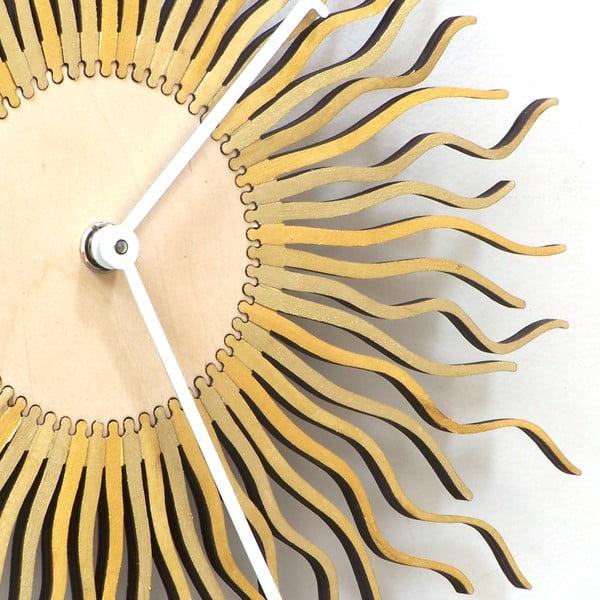 Drevené hodiny Shockhead, 29 cm