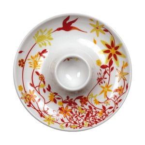 Sada 2 tanierov s kalíškom na vajce Birds Cup, oranžový