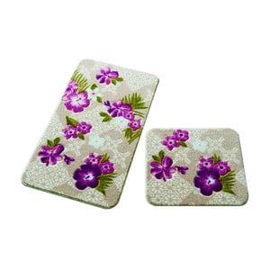 Sada 2 kúpeľňových predložiek Confetti Bathmats Tropical Pink