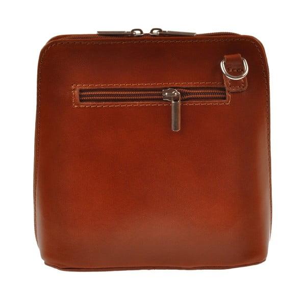 Hnedá kožená kabelka Florence Bags Vaire