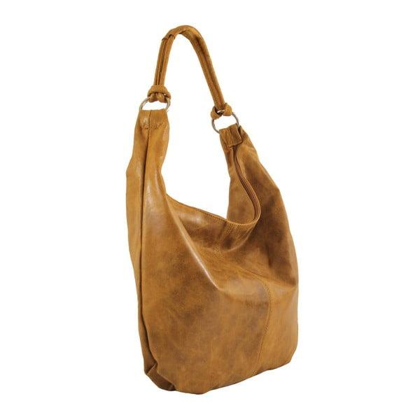 Tan kožená kabelka Francesca
