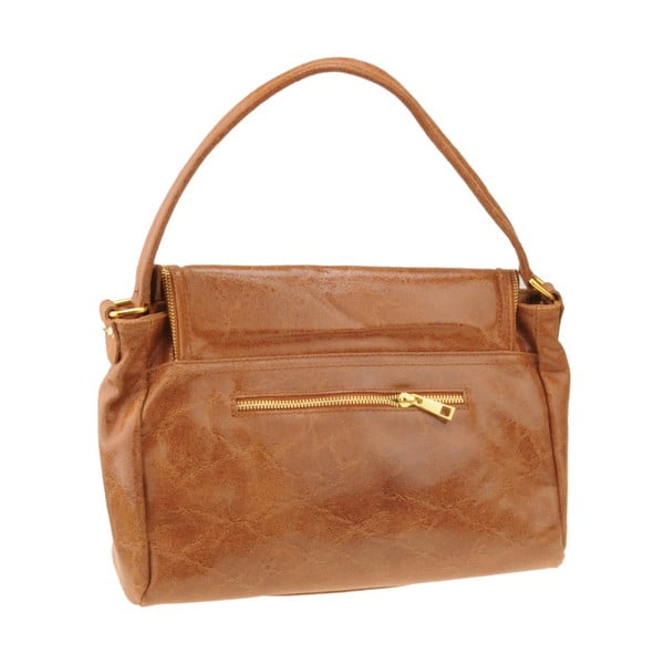 Kožená kabelka Emilio Masi Diadema, hnedá