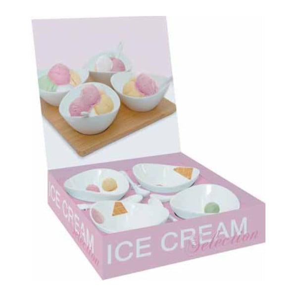 Set 4 servírovacích misiek Ice Cream