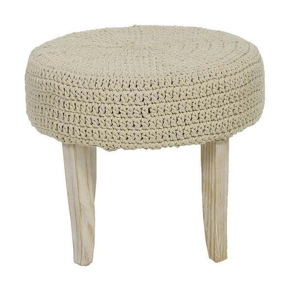 Stolička s pleteným sedadlom Cream, 48x40 cm