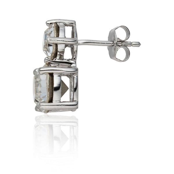 Sada náušníc a náhrdelníku Prong Crystal