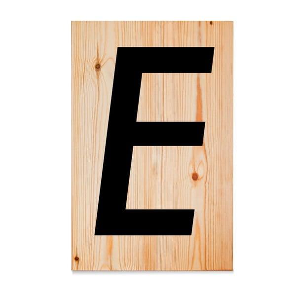 Drevená ceduľa Letters E