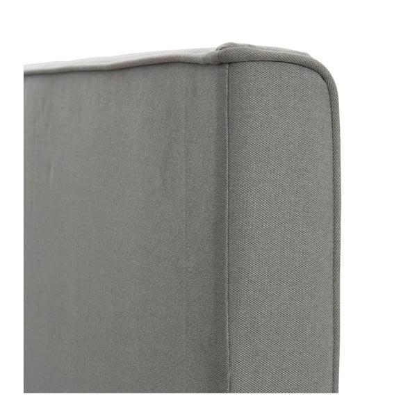 Sivá posteľ s tmavosivými gombíkmi VIVONITA Kent 180x200cm, svetlé nohy