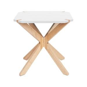 Biely príručný stolík Leitmotiv Mister, 45 x 45 cm