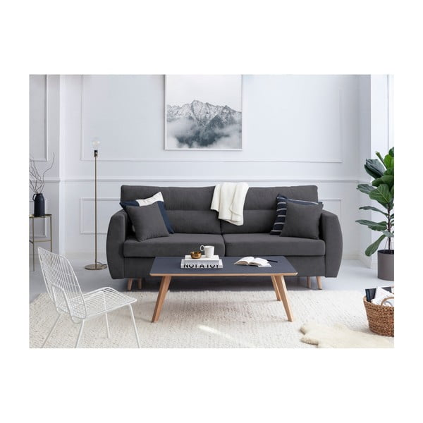 Tmavosivá trojmiestna rozkladacia pohovka Cosmopolitan design Sydney, 231×98×95 cm
