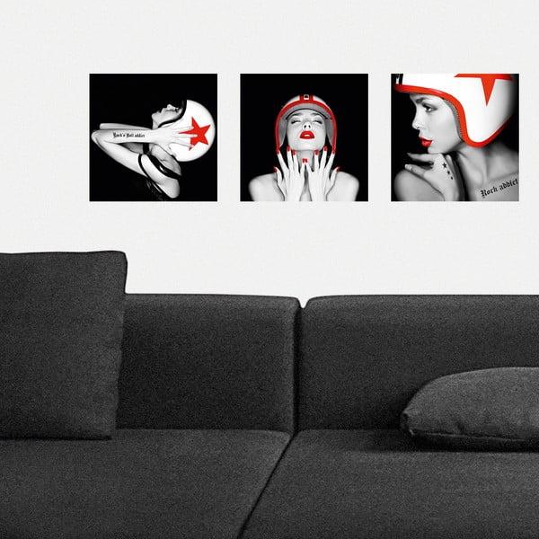 Samolepiace obrazy S helmou, 30x30 cm