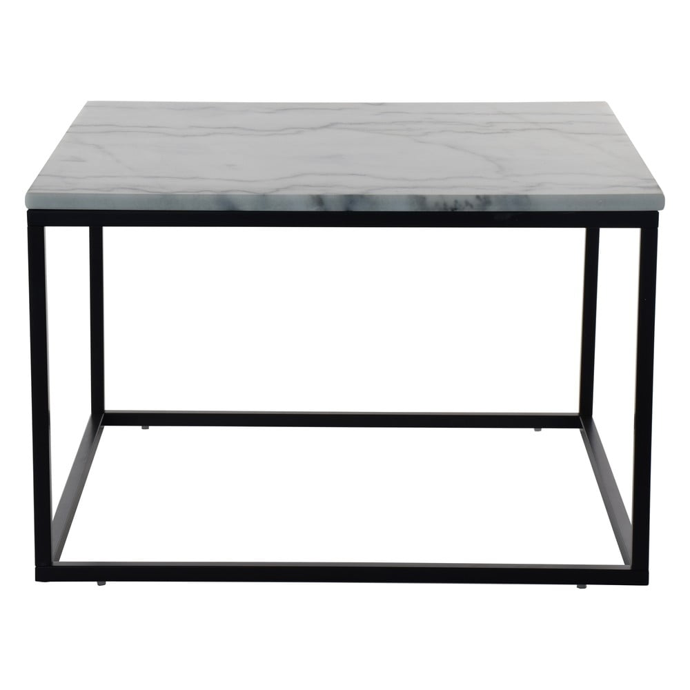 Mramorový konferenčný stolík s čiernou konštrukciou RGE Accent, šírka 75 cm