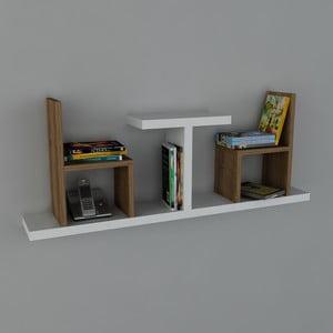 Polica Sense Book White/Walnut, 22x110x43 cm