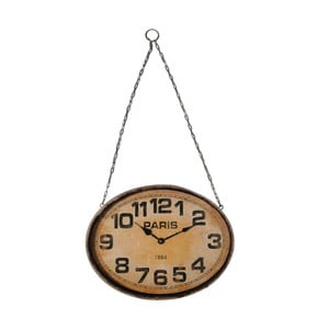 Závesné hodiny Hanging Spirit, 41x31 cm